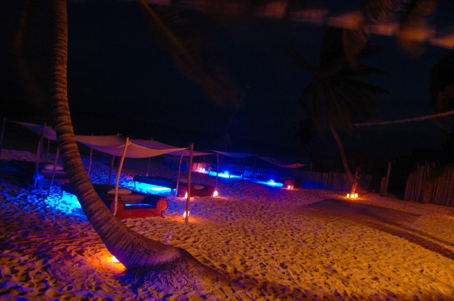 wedding ambiance on beach